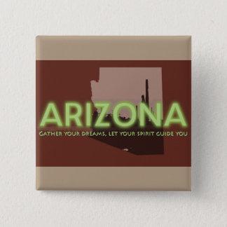 Badge Carré 5 Cm ESPRIT de l'ARIZONA carré de bouton de 2 pouces