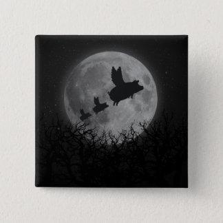 Badge Carré 5 Cm famille nocturne de porc de vol