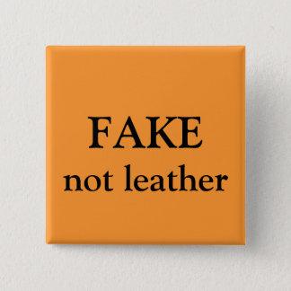 Badge Carré 5 Cm FAUX non en cuir