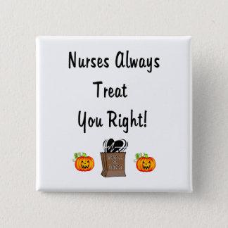 Badge Carré 5 Cm Festin de Halloween pour des infirmières
