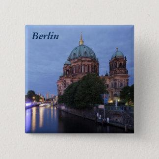 Badge Carré 5 Cm Fête et cathédrale de rivière à Berlin, Allemagne
