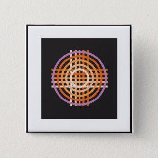 Badge Carré 5 Cm Fil croisé