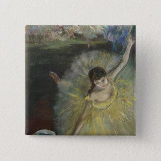 Badge Carré 5 Cm Fin d'Edgar Degas | d'un arabesque, 1877