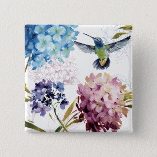 Badge Carré 5 Cm Fleurs de ressort