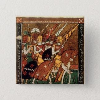 Badge Carré 5 Cm Franc 9084 f.20v : Chevaliers à cheval