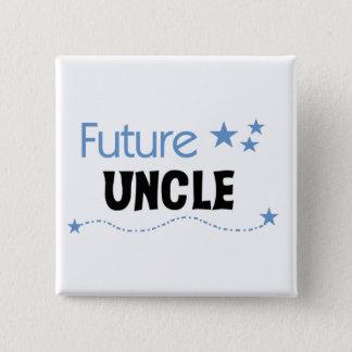 Badge Carré 5 Cm Futur oncle T-shirts et cadeaux