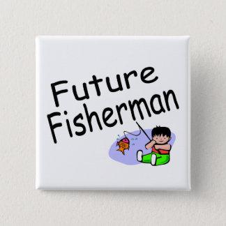 Badge Carré 5 Cm Futur pêcheur