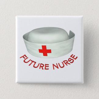 Badge Carré 5 Cm Future infirmière
