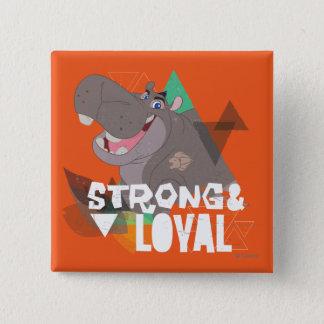 Badge Carré 5 Cm Garde de lion Beshte fort et loyal de |