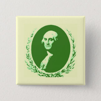 Badge Carré 5 Cm George Washington