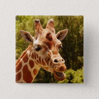 Badge Carré 5 Cm Girafe