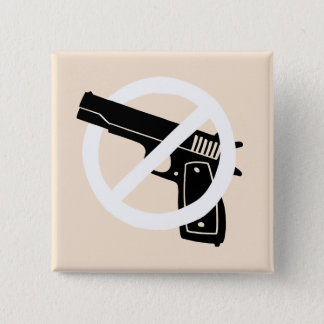Badge Carré 5 Cm goupille d'Anti-arme à feu