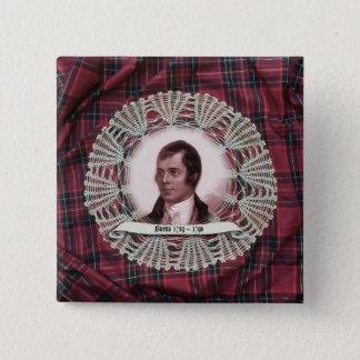 Badge Carré 5 Cm Goupille de carré de montagne de brûlures de