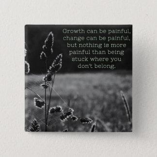 Badge Carré 5 Cm Goupille de croissance