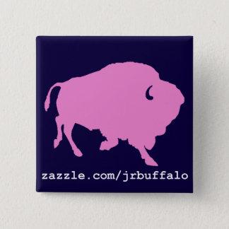 Badge Carré 5 Cm goupille rose de carré de buffle