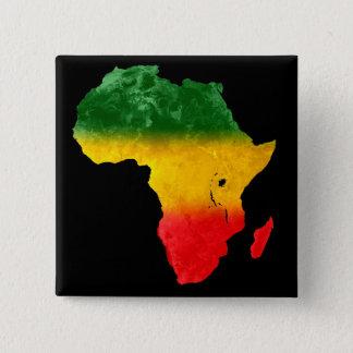 Badge Carré 5 Cm Goupille tricolore topographique de l'Afrique