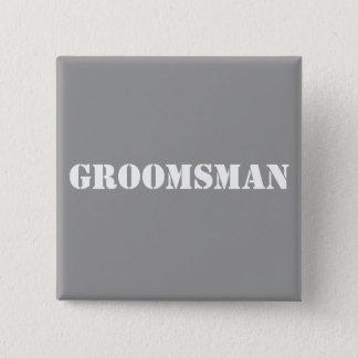 Badge Carré 5 Cm Groomsman