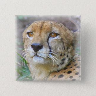 Badge Carré 5 Cm guépard