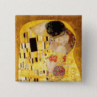 Badge Carré 5 Cm Gustav Klimt le chef d'oeuvre de baiser