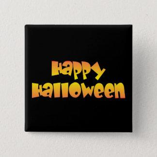 Badge Carré 5 Cm Halloween heureux
