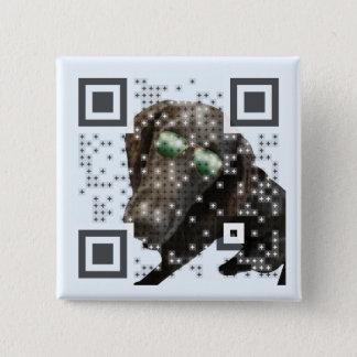 Badge Carré 5 Cm Hermes bouton QR-Code