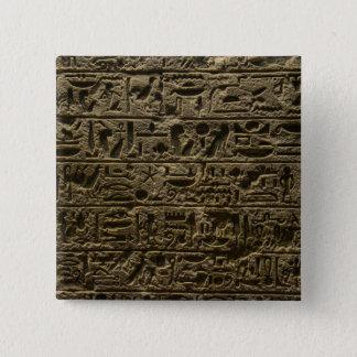 Badge Carré 5 Cm hiéroglyphes égyptiens antiques