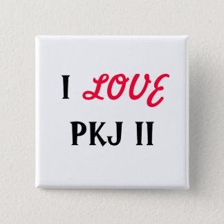 BADGE CARRÉ 5 CM I, AMOUR, PKJ II