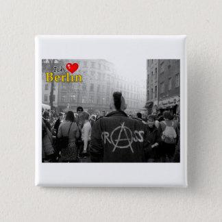 Badge Carré 5 Cm Ich Liebe Berlin