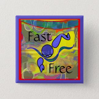 Badge Carré 5 Cm IM bouton de style libre de matin