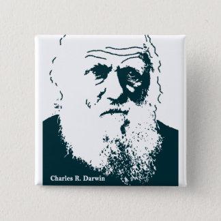 Badge Carré 5 Cm Image de Darwin. Bouton