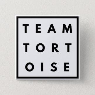 Badge Carré 5 Cm Insigne carré drôle de tortue d'équipe