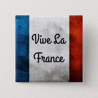 Badge Carré 5 Cm Insigne de la France de La de Vive
