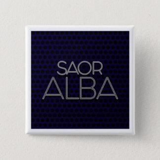 """BADGE CARRÉ 5 CM INSIGNE """"SAOR ALBA"""
