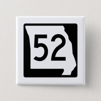 Badge Carré 5 Cm Itinéraire 52 du Missouri