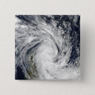 Badge Carré 5 Cm Jade tropical de tempête venant à terre au-dessus