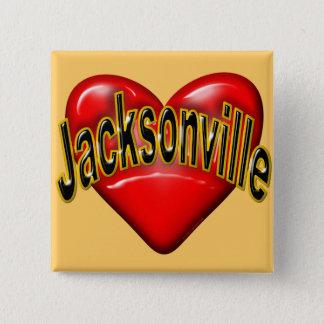 Badge Carré 5 Cm J'aime Jacksonville