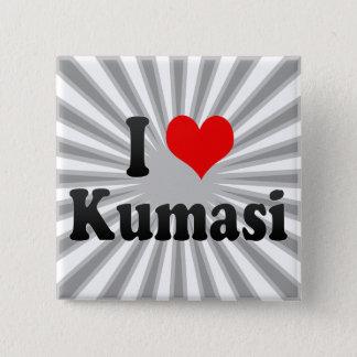 Badge Carré 5 Cm J'aime Kumasi, Ghana