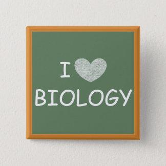Badge Carré 5 Cm J'aime la biologie