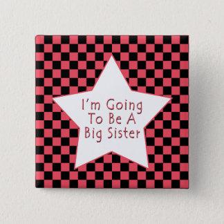 Badge Carré 5 Cm Je vais être une grande soeur