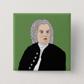 Badge Carré 5 Cm Johann Sebastian Bach