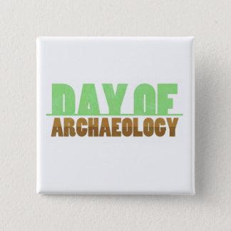 Badge Carré 5 Cm Jour de bouton de carré d'archéologie