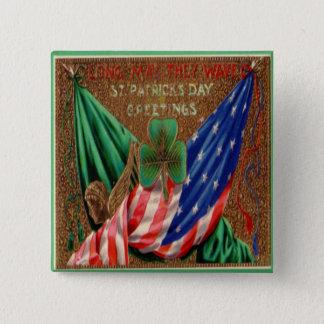 Badge Carré 5 Cm Jour de la Saint Patrick vintage 12