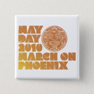 Badge Carré 5 Cm Jour de mai mars - sénat Bill 1070