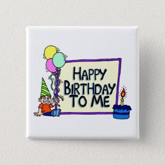 Badge Carré 5 Cm Joyeux anniversaire à moi garçon