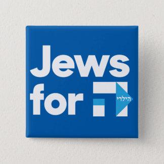 Badge Carré 5 Cm Juifs pour le bouton carré de Hillary