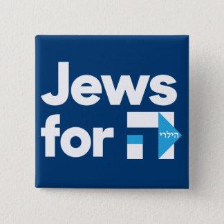 Badge Carré 5 Cm Juifs pour le bouton de Hillary