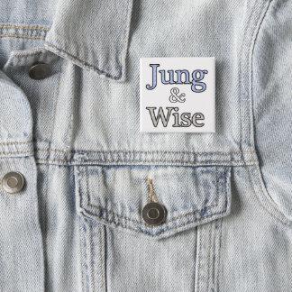 Badge Carré 5 Cm Jung et logo sage