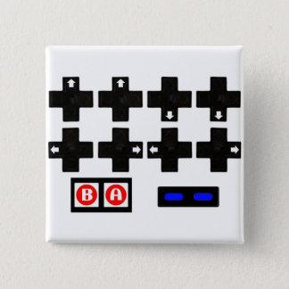 Badge Carré 5 Cm Konami contre le code