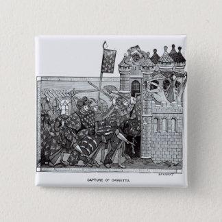 Badge Carré 5 Cm La capture de Damiette en 1249