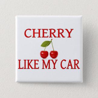 Badge Carré 5 Cm La cerise aiment ma voiture
